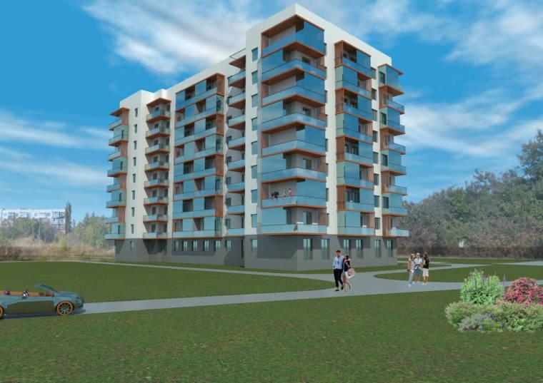 Многоэтажный жилой дом 2 в пгт. Черноморское - Arconica